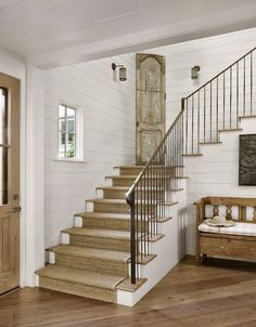 like the light stair treads with iron rails AN AUSTIN ESTATE