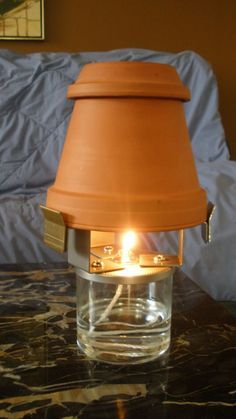 "Ceramic Oil Heater--another version of the ""Candle-Lamp"""