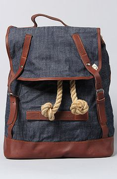 """The Rucksack Waxed Backpack in Dark Indigo. Damn Marshall Artist and it's """"Modern Tailoring"""" is so dope and too damn expensive!"""