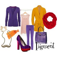 Inspired by Disneybound I had to create a look based on my favorite character. Figment!!!