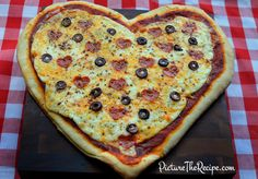 valentine recipes   Valentine's Day Lunch: Heart Shaped Pizza