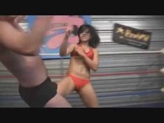 Young Female in Mixed Wrestling Video