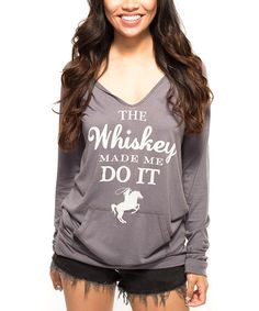 This Southward Apparel Deep Felt Green Graphic Scoop Neck Hoodie - Women by Southward Apparel is perfect! #zulilyfinds