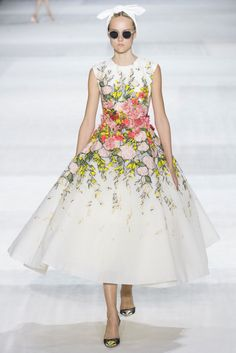 Floral amazing-ness on this bridal gown at Giambattista valli couture collection