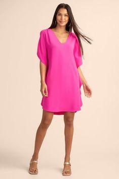 Silky Dress, Chic Dress, Trina Turk, Dress Outfits, Dresses, Cold Shoulder Dress, Whitewash, Blouse, Heeled Sandals