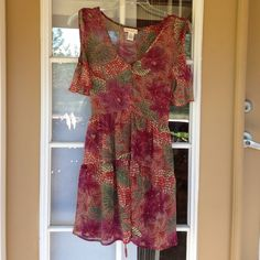 Band of Gypsies Beach Cover Dress Sheer and in excellent condition, cold shoulder. Price firm, discount on bundles. Band of Gypsies Dresses