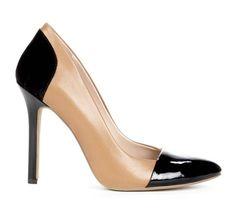 Brown and Black Heels