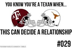 My ex-husband was an Aggie... The first time he met my Austin-living, UT-graduate-filled family was on Thanksgiving. It was HILARIOUS :-D