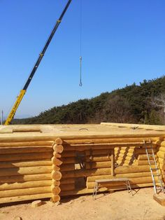 Jeff and Korea Log house: Mr.Zoo, A Master builder of Handcraft log house in...