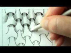 ▶ How to draw tanglepattern Y-Ful Power - YouTube