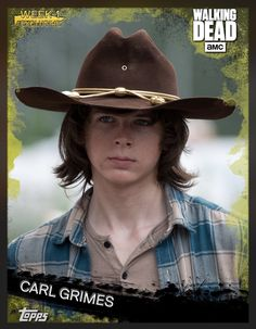 Carl Grimes Gold Week 1 Exclusive Insert Card The Walking Dead 2016 Topps