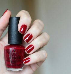 Malaga Wine | OPI.... have this color on my toes right now... as a lover of reds I can say this is by far my favorite red nail polish :)