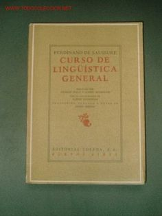 Curso de Lingüística General de Saussure.