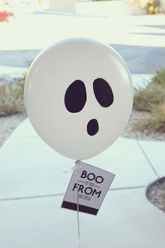 I've always been a fan of Boo-ing our neighbors at Halloween time. Only problem… our neighbors don't usually continue the fun. So this year we wanted to put a little treat together to deliver to some of our favorite people that live outside of our neighborhood. SUPPLIES: • Bucket (our ghost one is from Party …