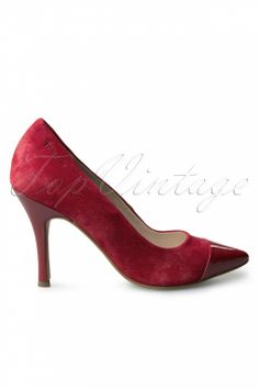 Tamaris - 60s Sassy Red Pointed Glamour Pumps