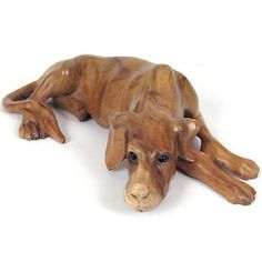 Tree Wood Carving of Great Dane | ... -RETRIEVER-GREAT-DANE-DOG-SCULPTURE-40CM-SOLID-SUAR-WOOD-HAND-CRAFTED