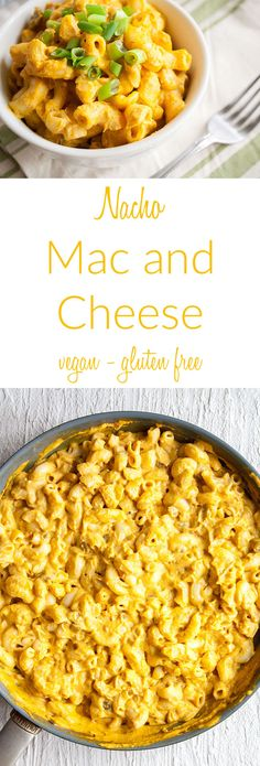 Nacho Mac and Cheese (vegan, gluten free) - This simple nut free vegan mac and cheese is rich, creamy, and spicy. Made on the stovetop, it is an easy meal. The nacho cheese sauce can be used on nachos and veggie burgers as well. Vegan Cheese Recipes, Vegan Mac And Cheese, Healthy Gluten Free Recipes, Vegan Dinner Recipes, Delicious Vegan Recipes, Vegan Dinners, Lunch Recipes, Vegetarian Recipes, Creamy Cheese