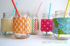 DIY Mason Jar Cozies. SO cute!