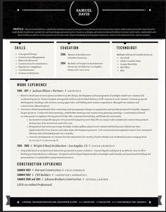 understated resume