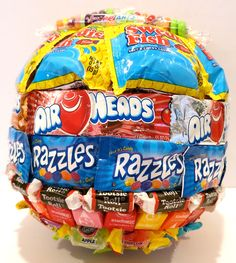 CANDY COVERED BASKETBALL Great gift for your BASKETBALL FAN! Great for Birthdays, Camp Visiting Days, or Decoration