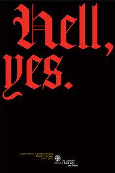 blackletter typography poster - Google zoeken