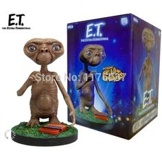 "Find More Action & Toy Figures Information about Vogue Classic 80's Steven Spielberg Sci Fi Movie E.T.The Extra Terrestrial 7"" Head Knocker/Bobble Head New Box ,High Quality Action & Toy Figures from Paradise Island on Aliexpress.com"