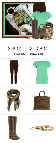 """Mint Chocolate Brownies"" by lulurose98 ❤ liked on Polyvore featuring Ralph Lauren Black Label, Warehouse, Givenchy, Sergio Rossi and DailyLook"