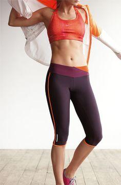 Nike Jacket, Sports Bra Running Capris