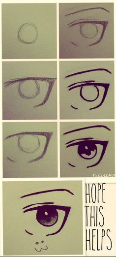 This is a little picture walk through of how I draw anime/manga eyes. This is pretty easy in my opinion, I hope this helps you somehow. NO REPINS OR I WILL CUT YOU. Have a nice day~