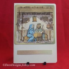 Handmade Christmas Card, Nativity £2.00