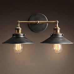 Iron Vintage Retro Industrial Loft Rustic Wall Sconce Light Outdoor Lamp Fixture