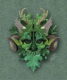 Green Man | Green Man - Computer Print - © Copyright Robin Wood 2000