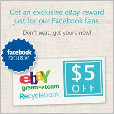 Free 5 dollar Ebay Gift Card fromRecyclebank -