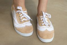"""""""DIY Faux Oxford Canvas Shoes"""" by tip-princesses FINALLY found the english version! Teenage Girl Crafts, Shoe Makeover, Painted Shoes, Painted Sneakers, Diy Clothing, Diy Fashion, Fashion Ideas, Me Too Shoes, Creations"""