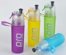 [Outdoor Sports] BPA Free Tritain Plastic Sports Water Bottle With Straw and Spray