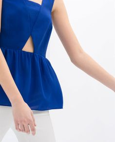ZARA - NEW COLLECTION - CUT-OUT TOP
