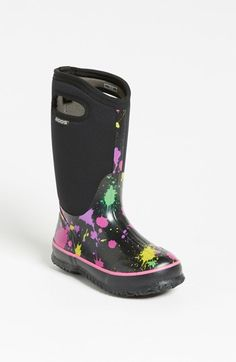Bogs 'Classic High - Paint Splat' Waterproof Boot (Toddler, Little Kid & Big Kid) available at #Nordstrom
