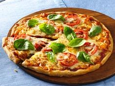 Gluten Free Tomato and Mozzarella Pizza