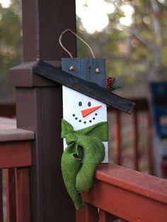 Wooden Pallet Snowman