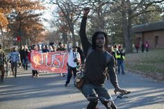 Protest march one year after police killed Jamar Clark