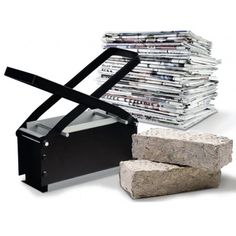 Paper Briquette Log Maker. This cool paper log maker produces a fire-ready brick shaped log that is a cost-effective solution to buying firewood. You get everything you need to make clean burning, low-smoke logs out of newspapers, junk mail, cardboard, wood chips, wrapping paper and more. It is easy to use, environmentally friendly and built to last.