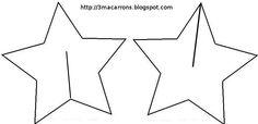 Gabarit étoiles en carton en 3D Auf 3macarrons.blogspot.fr http://www.pinterest.com/halinakaminski/patterns-templets-tutorials/
