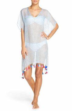 6250d34b9f Seafolly Fine Stripe Cover-Up Caftan Beach Supplies, Bikini Cover Up, Swimsuit  Cover