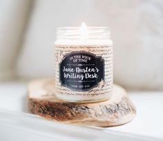 @inkandfable Jane Austen candle bookish merch pride and prejudice