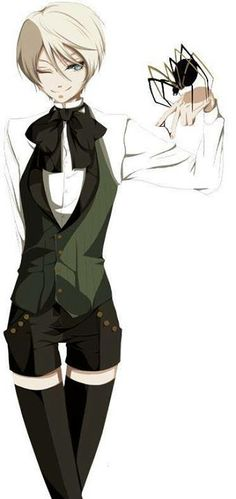 So people tell me I look like Alois Trancy. I have hair like him and I act like him. I Cosplay as him also! I love him!!