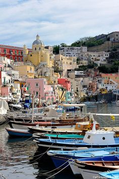 Procida, a beautiful island off the coast of Naples, Italy