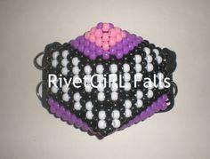 Cheshire Cat inspired Surgical/Visual Kei Cyber Raver Kandi Mask by RivetGiRL Falls