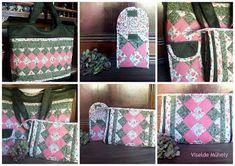 Viselde Műhely: Hortenzia táska-együttes Louis Vuitton Damier, Tote Bag, Pattern, Bags, Fashion, Scrappy Quilts, Totes, Handbags, Moda