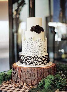 Wedding Cakes | Preppy Black + White Cake