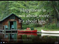 Serenity - enjoy the simple things!